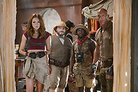 Jumanji: Welcome to the Jungle (2017) <br /> Karen Gillan, Jack Black, Kevin Hart and Dwayne Johnson<br /> *Filmstill - Editorial Use Only*<br /> CAP/KFS<br /> Image supplied by Capital Pictures