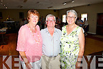 Pictured at the Tea Dance in aid of Fr. Tim Galvin's missions in South Sudan on Sunday which took place in Fr. Casey's GAA Clubhouse were L-R Ann Quaid, Anthony and Joan Hunt, Athea.