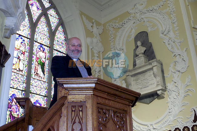 Rev. Michael Graham in the newly restored Church of Ireland in Peter Street...Picture Fran Caffrey Newsfile.