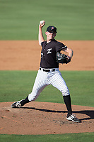 Kannapolis Intimidators relief pitcher Jake Elliott (37) in action against the Hagerstown Suns at Kannapolis Intimidators Stadium on June 15, 2017 in Kannapolis, North Carolina.  The Intimidators walked-off the Suns 5-4 in game one of a double-header.  (Brian Westerholt/Four Seam Images)