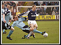 01/02/2003                   Copyright Pic : James Stewart.File Name : stewart-falkirk v st john 01.MARK ROBERTSON CHALLENGES FALKIRK'S JOHN HENRY....James Stewart Photo Agency, 19 Carronlea Drive, Falkirk. FK2 8DN      Vat Reg No. 607 6932 25.Office     : +44 (0)1324 570906     .Mobile  : +44 (0)7721 416997.Fax         :  +44 (0)1324 570906.E-mail  :  jim@jspa.co.uk.If you require further information then contact Jim Stewart on any of the numbers above.........