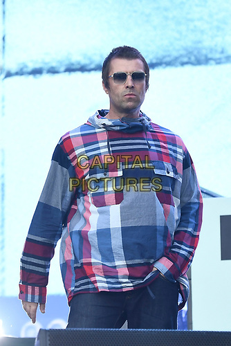 SHEPTON MALLET, ENGLAND - JUNE 29: Liam Gallagher performing at Glastonbury Festival, Worthy Farm, Pilton, on June 29, 2019 in Shepton Mallet, England.<br /> CAP/MAR<br /> ©MAR/Capital Pictures