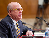J. Christopher Giancarlo, Acting Chairman, Commodity Futures Trading Commission, testifies before the US Senate Committee on Appropriations Subcommittee on Financial Services and General Government hearing to examine proposed budget estimates and justification for fiscal year 2018 for the SEC and the CFTC on Capitol Hill in Washington, DC on Tuesday, June 27, 2017.<br /> Credit: Ron Sachs / CNP
