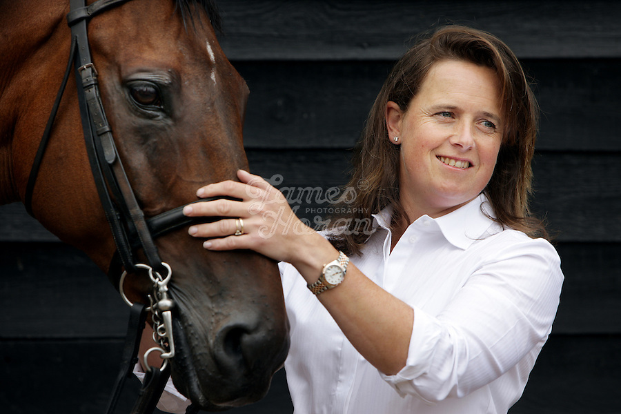 Portraits of Pippa Funnell. <br /> Pippa Funnell is an equestrian sportswoman, regarded as one of the Eventing's sporting elite. She competes in three-day eventing. In 2003 became the first person and currently only person to win Eventing's greatest prize, the Rolex Grand Slam of eventing.