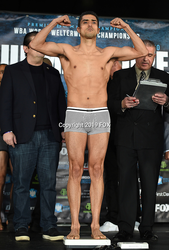 BROOKLYN - JANUARY 25: Boxer Josesito Lopez at the weigh-in for the January 26 PBC on FOX fight card at Barclays Arena on January 25, 2019, in Brooklyn, New York. (Photo by Frank Micelotta/Fox Sports/PictureGroup)