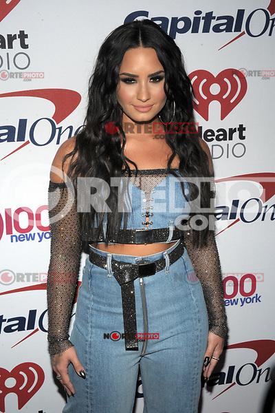 NEW YORK, NY - DECEMBER 8: Demi Lovato at Z100's Jingle Ball 2017 at Madison Square Garden in New York City, Credit: John Palmer/MediaPunch /nortephoto.com NORTEPHOTOMEXICO