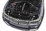 Car Stock 2017 BMW X3 xDrive28d 5 Door SUV Engine  high angle detail view