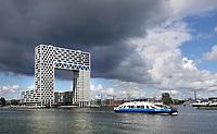 Nederland Amsterdam 2020. Nieuwbouw in de oude Houthaven aan het IJ. De Pontsteiger-toren. Foto Berlinda van Dam / Hollandse Hoogte