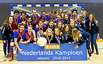 ROTTERDAM  - NK Zaalhockey . Winning teams SCHC (m) and HDM (w) .    COPYRIGHT KOEN SUYK