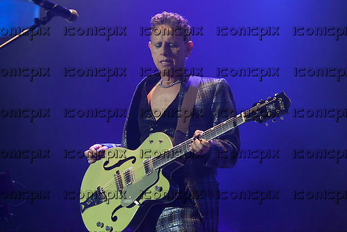 Depeche Mode - guitarist Martin Gore - performing live on the Delta Machine Tour at the O2 Arena in London UK - 28 May 2013.  Photo credit: John Rahim/Music Pics Ltd/IconicPix