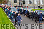 Weshie Fogarty funeral leaves St Marys Cathedral flanked by Killarney Legion and the East Kerry board members on Wednesday