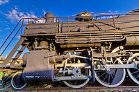Listed on the National Register of Historic Places th St. Lousis and San Francisco Railroad steam locomotive 4003 is now located at the Fort Smith Trolly Museum.