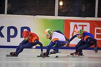 SHORTRACK: Jaap Edenbaan Amsterdam, NK Shorttrack 6-01-2013, Niels Kerstholt, Sjinkie Knegt, Freek van der Wart, ©foto Martin de Jong
