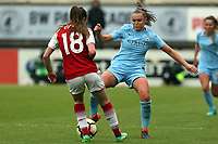 Lisa Evans of Arsenal Women and Mie Jans of Manchester City Women during Arsenal Women vs Manchester City Women, FA Women's Super League FA WSL1 Football at Meadow Park on 12th May 2018