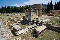 Picture of Tomb A2 of the North Necropolis. Hierapolis archaeological site near Pamukkale in Turkey.