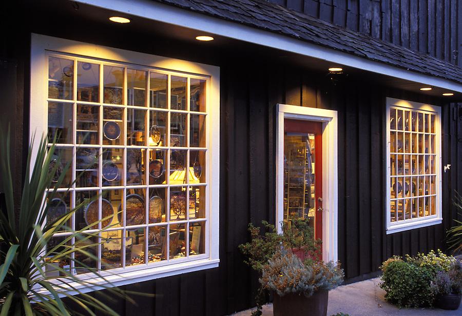 Shop front at evening, Coupeville, Washington