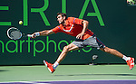 Marin Cilic (CRO) loses to Andy Murray (GBR) 6-4, 6-3, at the Sony Open being played at Tennis Center at Crandon Park in Miami, Key Biscayne, Florida on March 28, 2013