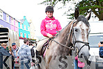 Kate O'Leary from Ballingeary showcasing her horse at the fair in Kenmare.