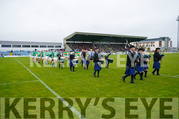 Ballyduff and  Lixnaw parade before the Senior County Hurling Final in Austin Stack Park on Sunday