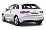 Rear three quarter view of a 2013 - 2014 Audi A3 Ambition 3-Door Hatchback.