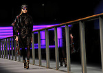 A model presents a creation by Custo Barcelona during the 080 Barcelona Autumn-Winter 2014-2015 fashion week in Barcelona on January 29, 2014. PHOTOCALL3000 / PD