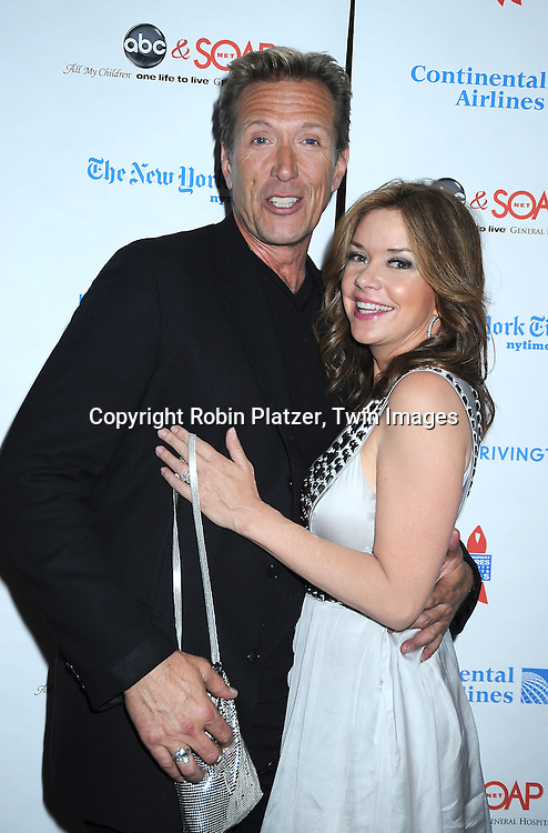 actor Walt Willey and Bobbie Eakes of All My Children attending The 6th Annual ABC And SOAPnet salute to BROADWAY CARES/ EQUITY FIGHTS AIDS Benefit post party on March 21, 2010 at The Marriott Marquis Hotel in New York City.