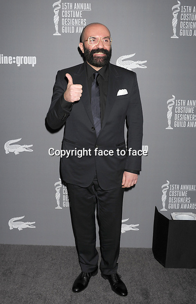Paco Delgado arrives at the 15th Annual Costume Designers Guild Awards at The Beverly Hilton Hotel on February 19, 2013 in Beverly Hills, California., ..Credit: Mayer/face to face - No Rights for USA and Canada -