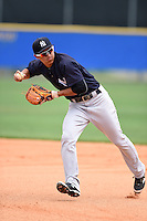 New York Yankees Gosuke Katoh (29) during practice before a minor league spring training game against the Toronto Blue Jays on March 24, 2015 at the Englebert Complex in Dunedin, Florida.  (Mike Janes/Four Seam Images)