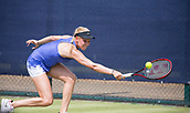 June 14th 2017, Nottingham,  England; WTA Aegon Nottingham Open Tennis Tournament day 5;  Donna Vekic of Croatia wins the first set against Julia Boserup of USA