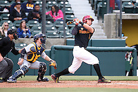 Lars Nootbaar #11 of the Southern California Trojans bats against the Coppin State Eagles at Dedeaux Field on February 18, 2017 in Los Angeles, California. Southern California defeated Coppin State, 22-2. (Larry Goren/Four Seam Images)