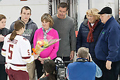Brendan Carpenter, Julie Carpenter, Bobby Carpenter,  Alex Carpenter (BC - 5), ?, ? - The Boston College Eagles defeated the visiting Providence College Friars 7-1 on Friday, February 19, 2016, at Kelley Rink in Conte Forum in Boston, Massachusetts.