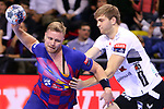 VELUX EHF 2019/20 EHF Men's Champions League Group Phase - Round 8.<br /> FC Barcelona vs Aalborg Handbold: 44-35.<br /> Aron Palmarsson vs Oliver Norlyk.