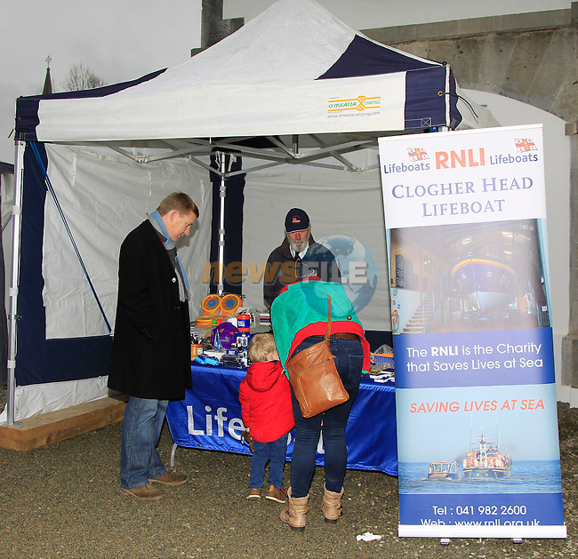 The RNLI stand during the Christmas Fair at Market House, Dunleer on Saturday 6th December 2014.<br /> Picture:  Thos Caffrey / www.newsfile.ie