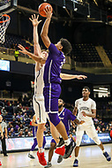 Washington, DC - December 22, 2018: High Point Panthers forward Jordan Whitehead (34) makes a shot during the DC Hoops Fest between Hampton and Howard at  Entertainment and Sports Arena in Washington, DC.   (Photo by Elliott Brown/Media Images International)