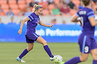 Becky Edwards (14) of the Orlando Pride passes the ball against the Houston Dash on Friday, May 20, 2016 at BBVA Compass Stadium in Houston Texas. The Orlando Pride defeated the Houston Dash 1-0.