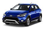 2020 Hyundai i20-Active Active 5 Door Hatchback Angular Front automotive stock photos of front three quarter view