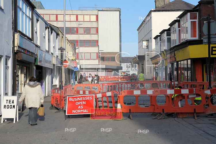 Deansgate road improvements  Blackpool Lancashire UK......© Phill Heywood.
