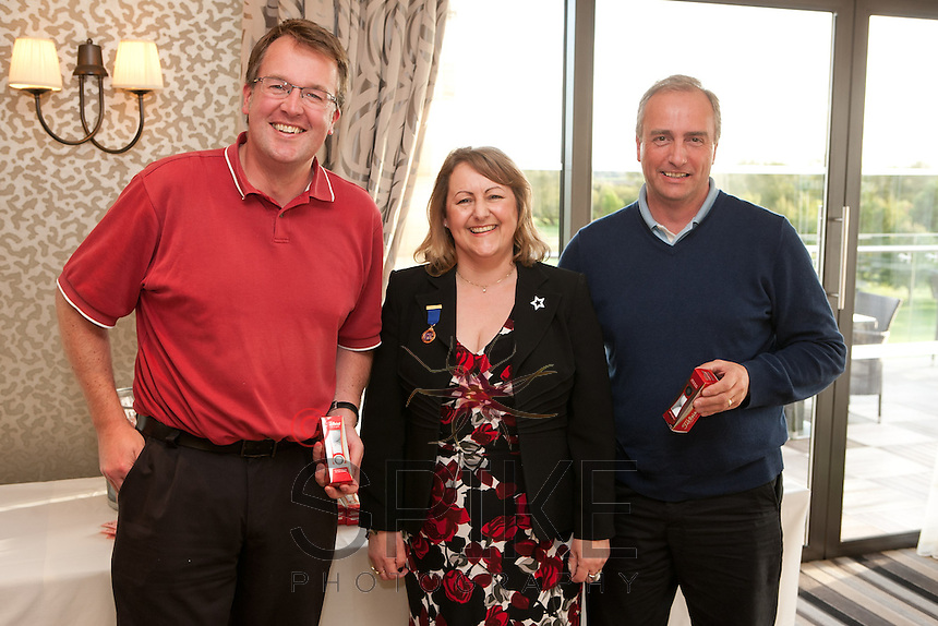 Booby prize winners Russell Thompson, Deborah Labbate and Andy Corah