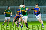 Matthew O'Sullivan Kerry in action against Liam Casey Tipperary in the U-21 Football Championship at Austin Stack Park, Tralee on Wednesday night.