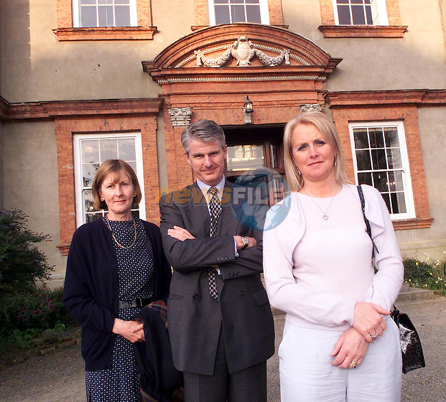 Charles and Eithne Carroll and Elizabeth Lynch in Beaulie House for the launch of St. Peter's Church of Ireland restoration fund..Picture Paul Mohan Newsfile