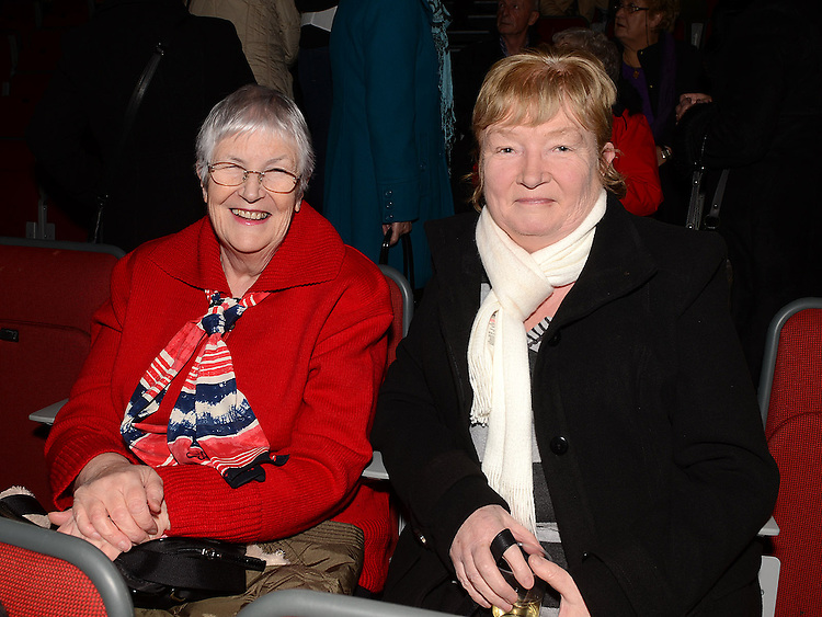Bernie McCann and Catriona Coady pictured at the Showband show in the TLT. Photo:Colin Bell/pressphotos.ie