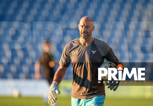 Oxford United name 39 year old Goalkeeping Coach Wayne Brown on the bench during the The Checkatrade Trophy match between Oxford United and Exeter City at the Kassam Stadium, Oxford, England on 30 August 2016. Photo by Andy Rowland / PRiME Media Images.