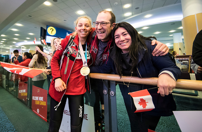 PyeongChang 19/3/2018 - Team Canada travels to Vancouver and a homecoming reception at YVR following the 2018 Winter Paralympic Games in Pyeongchang, Korea. Photo: Dave Holland/Canadian Paralympic Committee