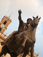 Hail Caesar.  The Capitoline Hill, Rome.