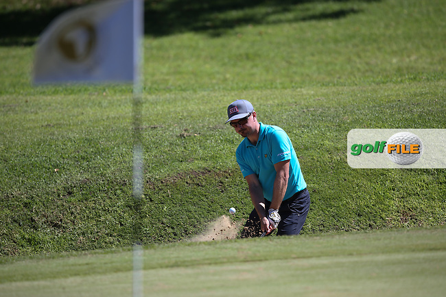 Mikko Korhonen (FIN) plays out of the bunker on the 14th during Round Three of the Africa Open 2015 at the East London Golf Club, East London, Eastern Cape, South Africa. Picture:  David Lloyd / www.golffile.ie. 07/03/2015