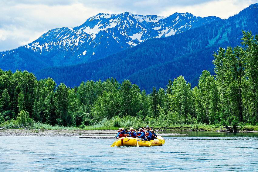 Whitewater rafting (with Glacier Raft Company), Flathead Valley, near West Glacier, Montana USA