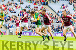 Dara Moynihan Kerry in action against Adam Quirke  Galway in the All Ireland Minor Football Final in Croke Park on Sunday.