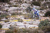 Chelva, SPAIN - MARCH 6: Javier Castelblanque during Spanish Open BTT XCO on March 6, 2016 in Chelva, Spain