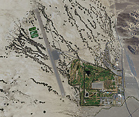 aerial map of Furnace Creek Airport (DTH), Furnace Creek, Death Valley National Park, Inyo County, California