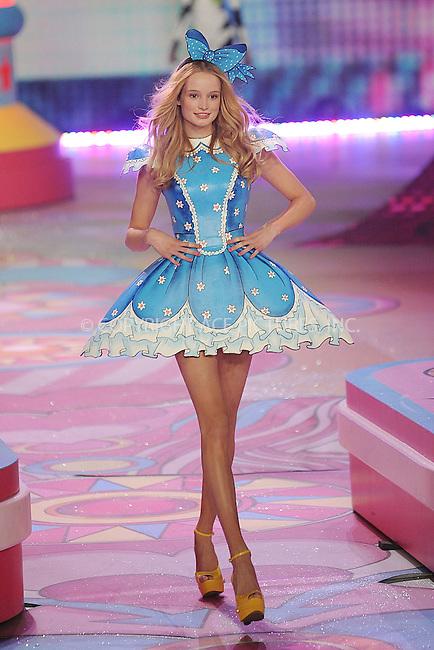 WWW.ACEPIXS.COM . . . . . .November 7, 2012...New York City....Frida Gustavsson walks the runway during the 2012 Victoria's Secret Fashion Show at the Lexington Avenue Armory on November 7, 2012 in New York City ....Please byline: KRISTIN CALLAHAN - ACEPIXS.COM.. . . . . . ..Ace Pictures, Inc: ..tel: (212) 243 8787 or (646) 769 0430..e-mail: info@acepixs.com..web: http://www.acepixs.com .